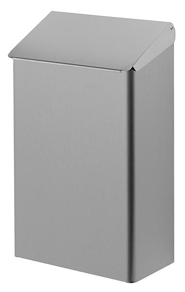 Hygieneabfallbehälter 7 Liter Edelstahl, Hygienemülleimer zur Wandmontage