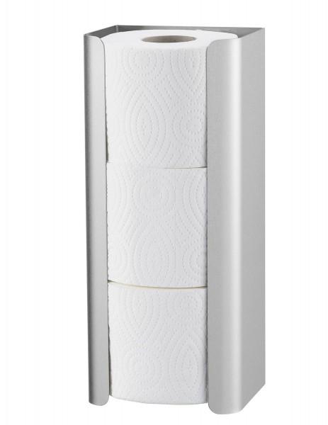 WC-Papier-Ersatzrollenhalter, 3 Rollen Edelstahl