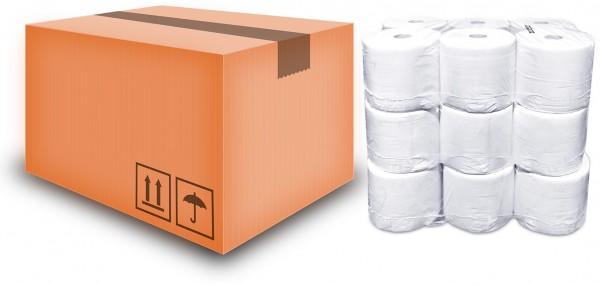 18 Handtuchrollen 20,8 cm x 140 m Kern 43 mm 2-lagig Zellstoff weiß