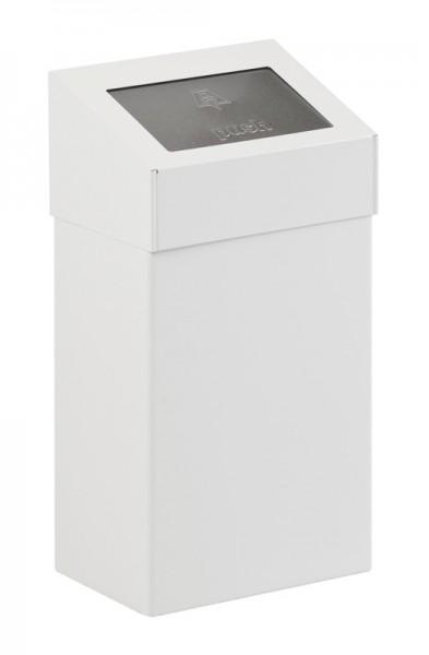 Abfallbehälter mit Pushdeckel 18 Ltr. Weiß