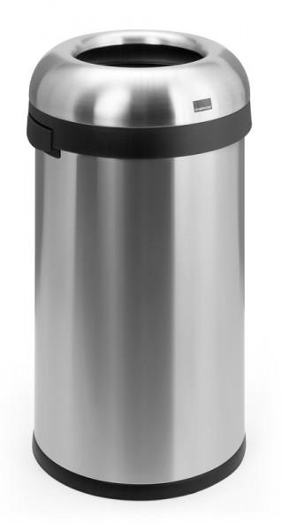 Runder Abfallbehälter Edelstahl 60 & 80 Liter offen
