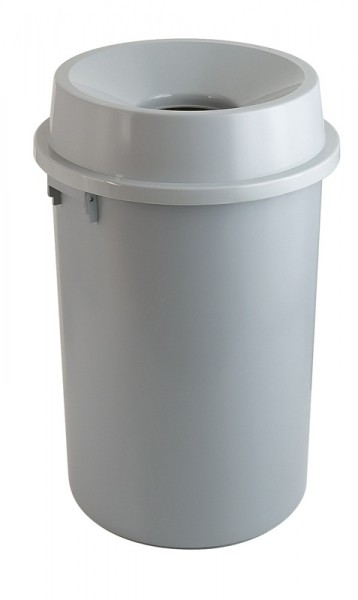 Abfallbehälter grau rund offen Kunststoff 90 l