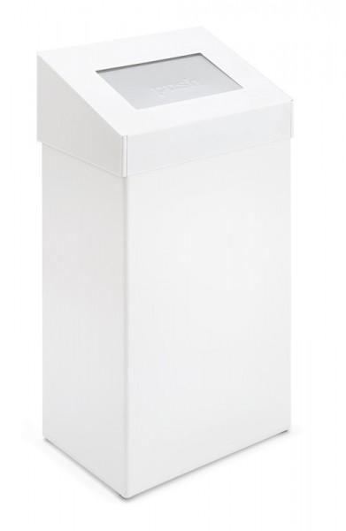 Abfallbehälter mit Pushdeckel 50 Ltr. Weiß