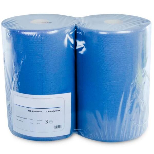 Putzrolle blau 3-lagig 500 Blatt 37,5x34 cm - 170m