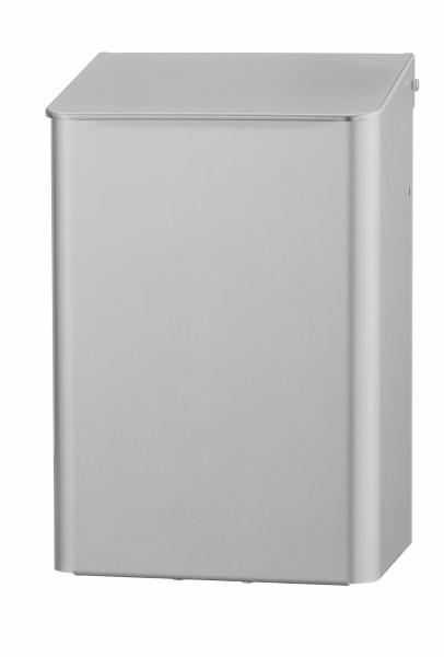Hygieneabfallbehälter Edelstahl, Hygienemülleimer zur Wandmontage, mit Klappdeckel