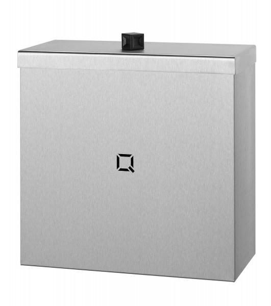 Hygieneabfallbehälter 9 Liter Edelstahl, Hygienemülleimer + Schleuseklappe