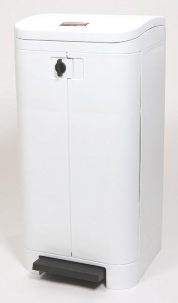 Spezial-Abfalleimer MSE 100 Liter   Tret-Mülleimer HACCP Kunststoff, Öffnung auf der Vorderseite