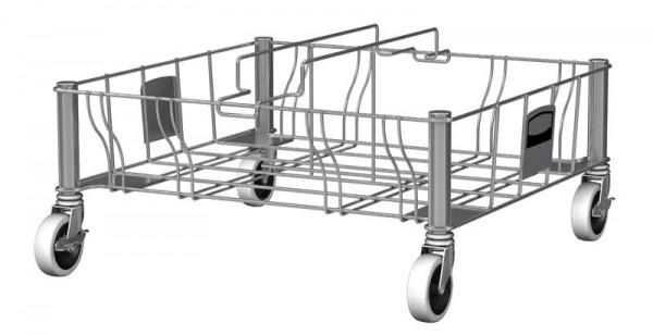Slimmy Transportroller Edelstahl, zweifach