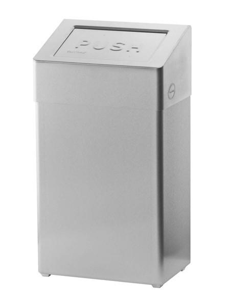SanTRAL Abfallbehäler 18 Liter Edelstahl, mit Push-Deckel und Beutelhalter