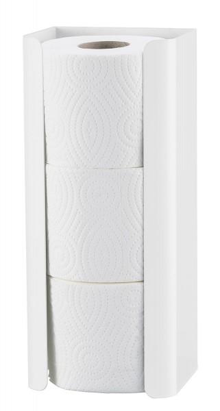WC-Papier-Ersatzrollenhalter, 3 Rollen Weiss
