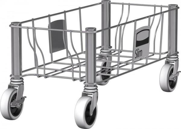 Slimmy Transportroller Edelstahl, einfach