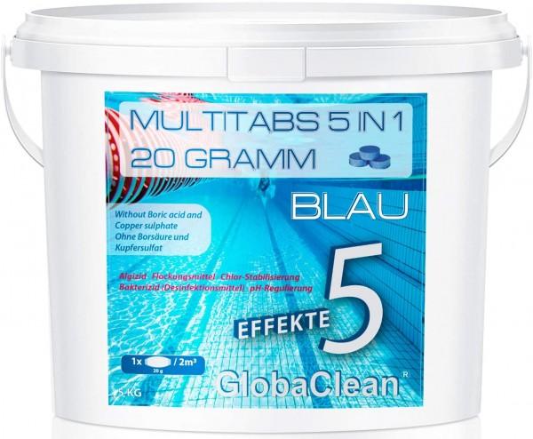 Pool Chlor Multitabs 5in1 20g BLUE