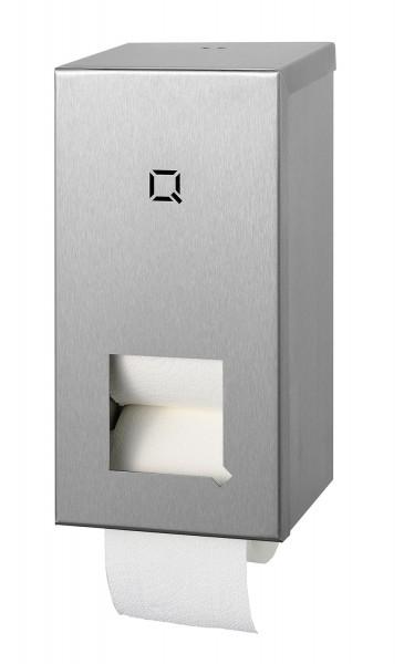 Q-Design Toilettenpapier-Spender Edelstahl, 2-Rollen