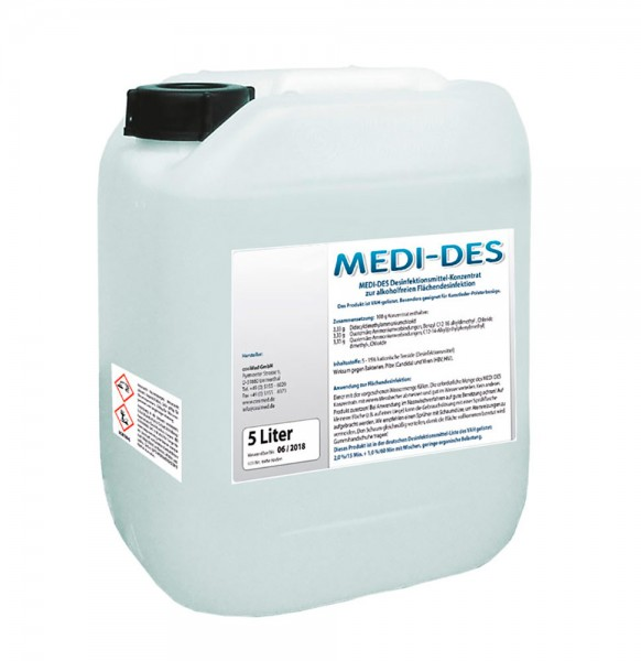 MEDI-DES Desinfektionsmittel Konzentrat 5 Liter