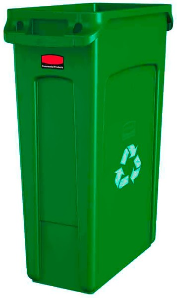 Abfalleimer Kunststoff 87l schmal Grün