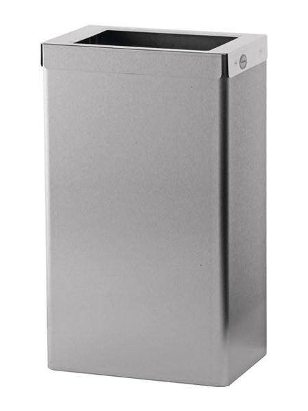 SanTRAL Abfallbehäler 22 Liter Edelstahl, offen, mit Beutelhalter
