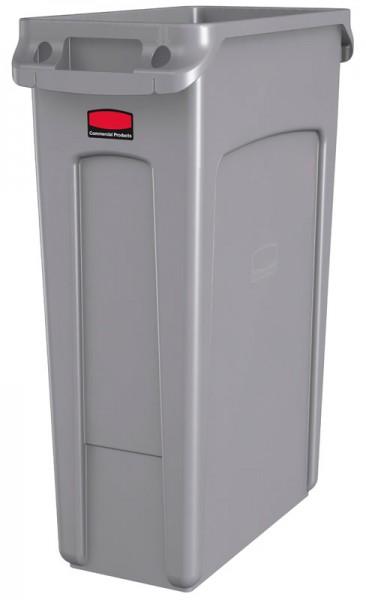 Abfalleimer Kunststoff 87l schmal Grau