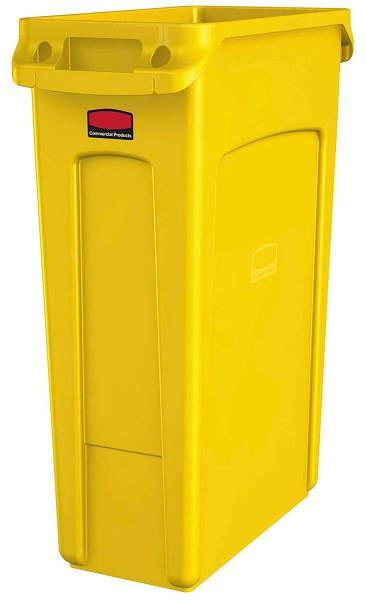 Abfalleimer Kunststoff 87l schmal Gelb